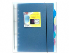 Supreme A4 Fashion Ringbinder With 5 Tabs Divider-index Tab Filing Ringbinder